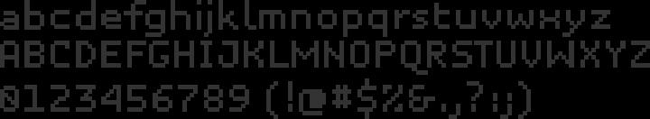 Unibody 8 Font Specimen