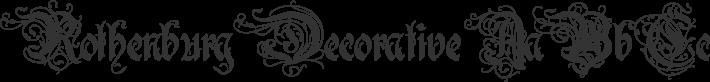 Rothenburg Decorative font family by Alex Winterbottom