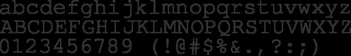 TeX Gyre Cursor Font Specimen