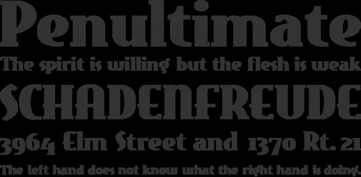 EastMarket Font Phrases