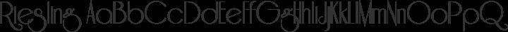 Riesling Regular free font