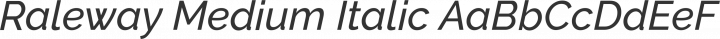 Raleway Medium Italic free font