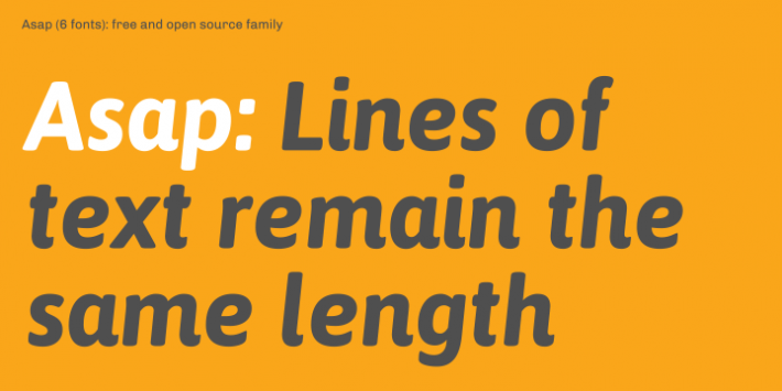 Asap Font Free By Omnibus Type Squirrel